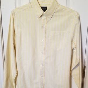 Arrow yellow w/ blue/white pin striped Shirt